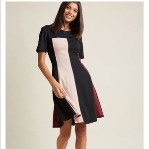 ModCloth Colorblock A-Line Dress
